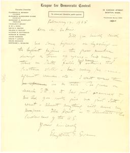 Letter from Elizabeth G. Evans to W. E. B. Du Bois