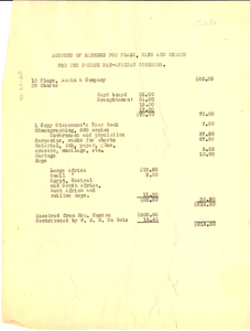 Account of expense for flags, maps and charts for the fourth Pan-African Congress.