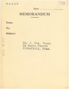 Address for Mr. J. McA. Vance