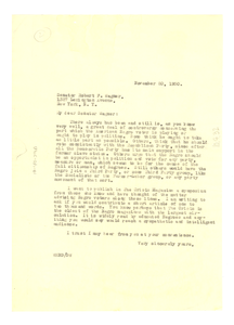 Letter from W. E. B. Du Bois to Robert F. Wagner