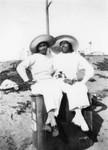 Two women in hats