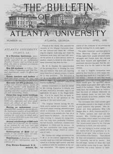 The Bulletin of Atlanta University, April 1895 no. 64, Atlanta, Georiga