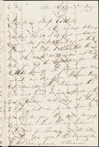 Letter from Isabella Massie, Upper Clapton, [England], to Mary Anne Estlin, 1853 May 2nd