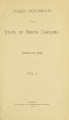 Public documents of the State of North Carolina [1903 v.1, pt.1]