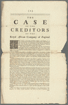 The case of the creditors of the Royal African Company of England