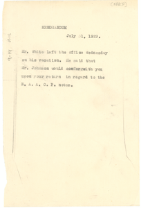 Telegram from the NAACP to W. E. B. Du Bois