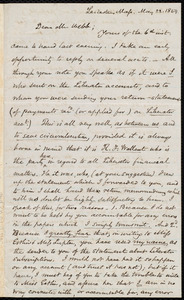 Letter from Samuel May, Leicester, Mass., to Richard Davis Webb, May 22, 1859