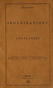 Religious organizations, and slavery