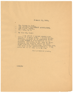 Letter from W. E. B. Du Bois to The American Missionary Association