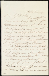 Letter from Elizabeth Lupton, [Near Liverpool, England], to Miss Weston, 6th Nov. 1849