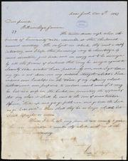 Letter to] Dear friend, William Lloyd Garrison [manuscript