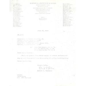 Letter, Judge Garrity, June 22, 1979.