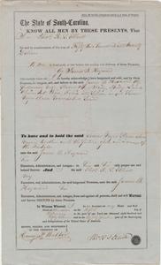 151. Bill of Sale for Slaves between Thomas R.S. Elliott and James B. Heyward -- February 5, 1857