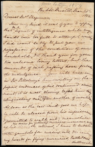 Letter from Mary Anne Estlin, Park St., Bristol, [England], to Maria Weston Chapman, Mar[ch] 25, 1854