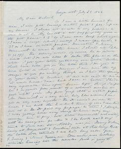 Letter from Anne Warren Weston, Weymouth, [Mass.], to Deborah Weston, July 29, 1842