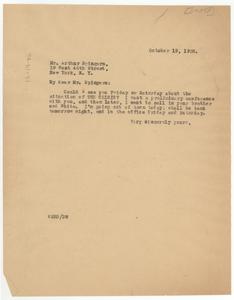 Letter from W. E. B. Du Bois to Arthur Spingarn