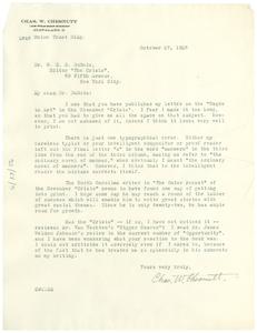 Thumbnail for Letter from Charles W. Chesnutt to W. E. B. Du Bois