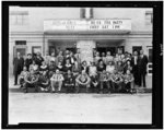 [Group portrait of NAACP members at the Kansas conference of the NAACP, posed outside of a motion picture theater]