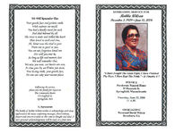 Homegoing service for Robbie Wilson, service: Henderson Funeral Home, 52 Hancock St., Springfield, Massachusetts, Thursday, June 22, 2006, 11 a.m., officiating: reverend David Wilson, Jonesboro, GA