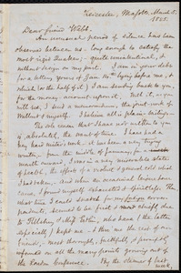 Letter from Samuel May, Leicester, Mass., to Richard Davis Webb, March 5, 1855