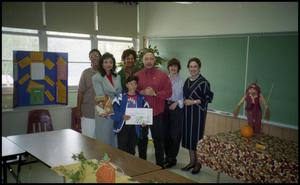 Adults and Young Boy in Gates Elementary Classroom San Antonio Chapter of Links Records