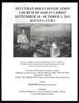 Cuban Holy Convocation, COGIC (1st: 2011), invitation