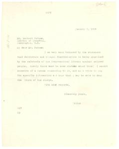 Letter from Oswald Garrison Villard to Herbert Putnam