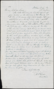 Letter from Mahlon B. Linton, Newtown, Pa., to William Lloyd Garrison and Helen Eliza Garrison, 15 Oc[tober] / [18]52