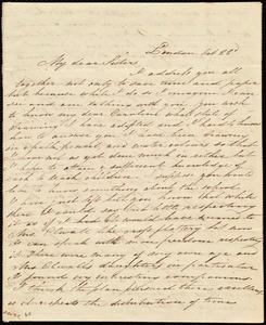 Incomplete letter from Maria Weston Chapman, London, [England], to Anne Warren Weston, Caroline Weston, Deborah Weston, Emma Forbes Weston, and Lucia Weston, Oct. 22, [1848?]