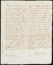 Document admitting imprudence in selling a horse to British before battle of Concord and in spreading rumors of Negro revolt [manuscript]