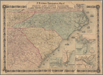 J.H. Colton's topographical map of North and South Carolina