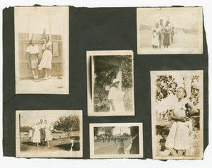 Page of a photograph album from Tulsa, Oklahoma