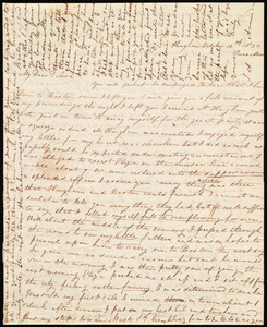 Letter from Sylvia Ann Ammidon, Hingham, [Mass.], to Deborah Weston, October 18th, 1830, Tues. Morn[ing]