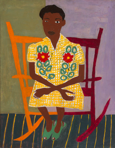 Portrait of Woman in Rocking Chair