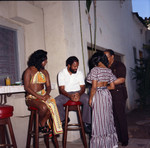 Judy Pace Flood and Berry Gordy at his party, Los Angeles