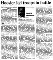 Historical Perspectives: Hoosier led troops in battle