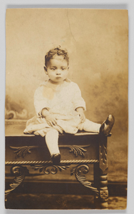 Photographic print of an unidentified child