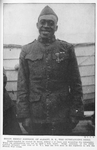 Sergt. Henry Johnson, of Albany N.Y., the outstanding hero; Single-handed he routed 36 Huns, killing 4 of them and wounding the remainder; Sergt. Johnson of the 369th Colored Infantry (old 15th of N.Y.), was the first man in his regiment to win the French War Cross