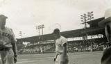 Swayne Field during a Mud Hens baseball game
