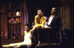 """Actors (L-R) Donna Biscoe, Amber Kain & Delroy Lindo in a scene fr. the Playwrights Horizons' production of the play """"The Heliotrope Bouquet By Scott Joplin & Lous Chauvin."""" (New York)"""