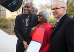 Donald Cole, Linnie Willis, and Provost Noel Wilkin, February 24, 2020