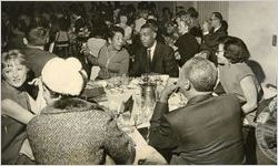 Interracial gathering for Black Enterprise Week, January 24, 1969