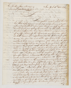 Letter from Philanthropos to President James Madison