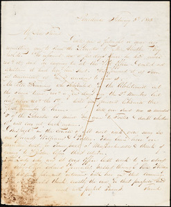 Letter from Henry Egbert Benson, Providence, [Rhode Island], to William Lloyd Garrison, 1833 February 8th
