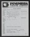 BN 1991 Auditions Penumbra Theater, 1991 (Box 5, Folder 32)