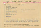Telegram from Governor George C. Wallace to Chet Huntley and David Brinkley of NBC.