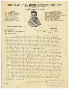Letter from Reverend O. Singleton to Edward M. Stevens, 1922 June 28