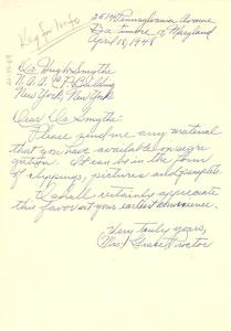 Letter from Grace Proctor to Hugh H. Smythe