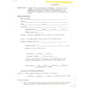 Administrator questionnaire