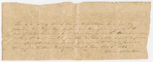 Letter from David C. Dickson - February 6, 1843